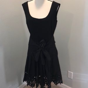 "Women's Antonio Melani ""cut out"" black dress 12"